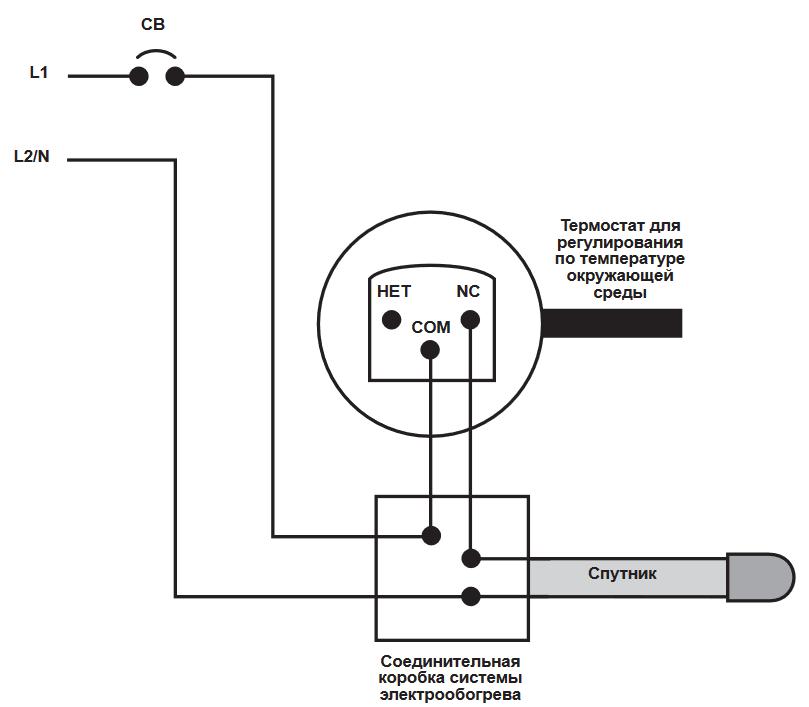 Схема термостать