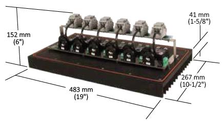 Размеры модуля DCM